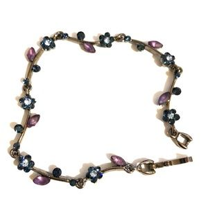Jewelry - Blue & Purple Bracelet & matching earrings